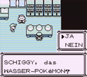 Screenshot aus Pokémon Rot & Blau