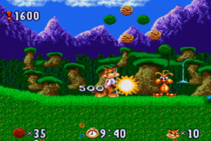 Screenshot aus Bubsy